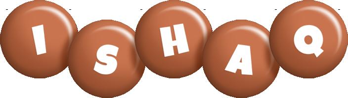 Ishaq candy-brown logo