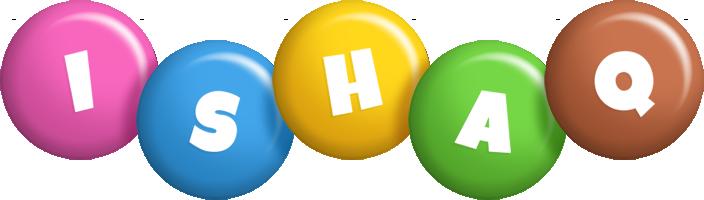 Ishaq candy logo