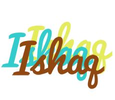 Ishaq cupcake logo