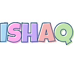 Ishaq pastel logo