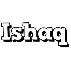 Ishaq snowing logo
