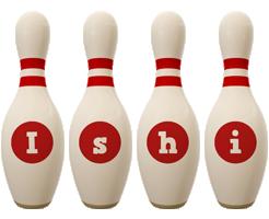Ishi bowling-pin logo