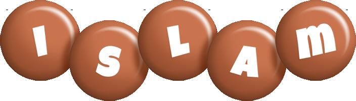 Islam candy-brown logo