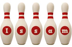 Issam bowling-pin logo
