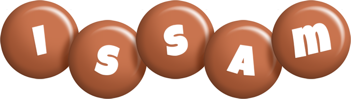 Issam candy-brown logo