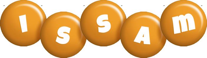 Issam candy-orange logo