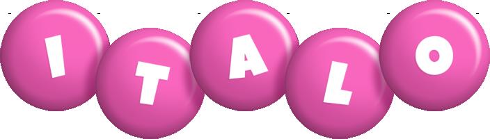 Italo candy-pink logo
