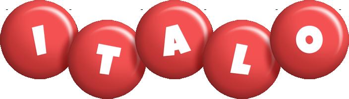 Italo candy-red logo