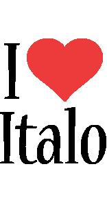 Italo i-love logo