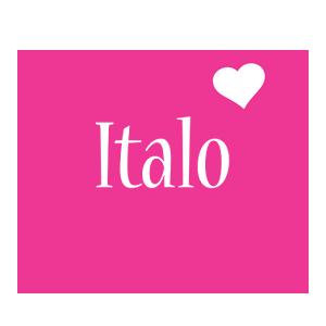 Italo love-heart logo