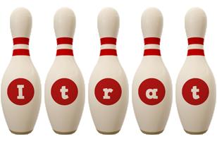 Itrat bowling-pin logo