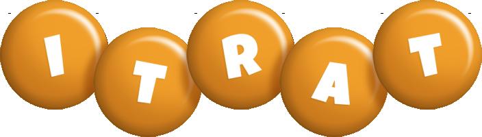 Itrat candy-orange logo