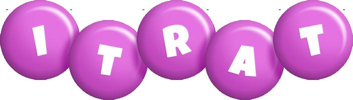 Itrat candy-purple logo