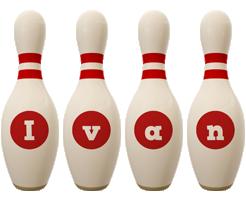 Ivan bowling-pin logo