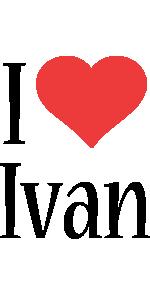 Ivan i-love logo