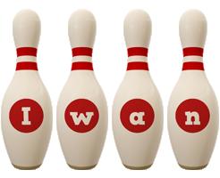 Iwan bowling-pin logo
