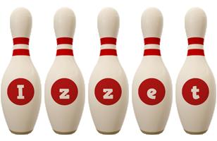 Izzet bowling-pin logo