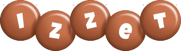 Izzet candy-brown logo