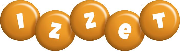 Izzet candy-orange logo
