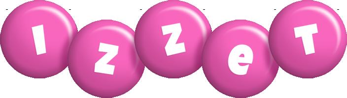 Izzet candy-pink logo