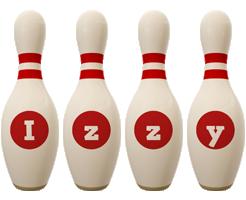 Izzy bowling-pin logo