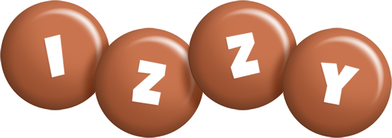 Izzy candy-brown logo