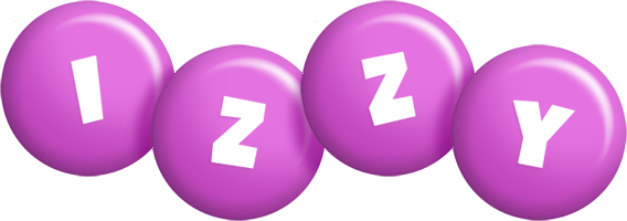 Izzy candy-purple logo
