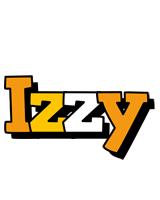 Izzy cartoon logo