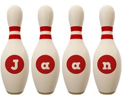 Jaan bowling-pin logo