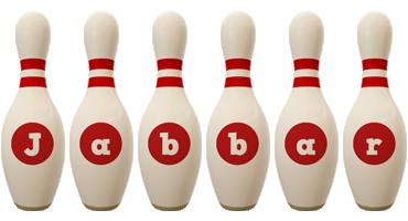 Jabbar bowling-pin logo