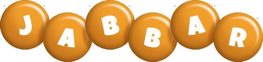 Jabbar candy-orange logo
