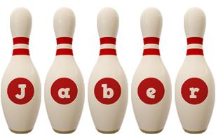 Jaber bowling-pin logo