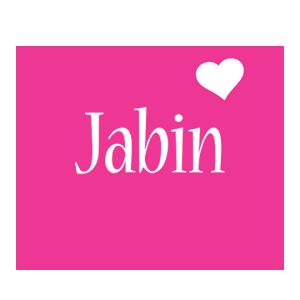 Jabin love-heart logo