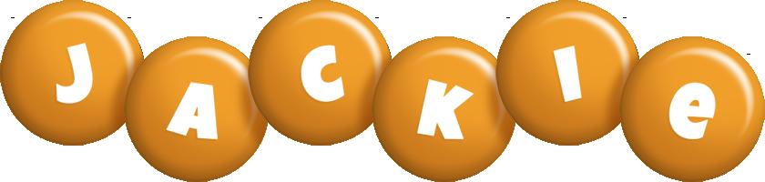 Jackie candy-orange logo
