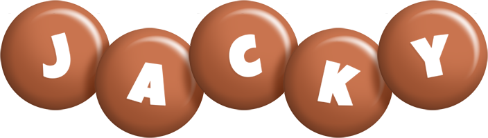 Jacky candy-brown logo