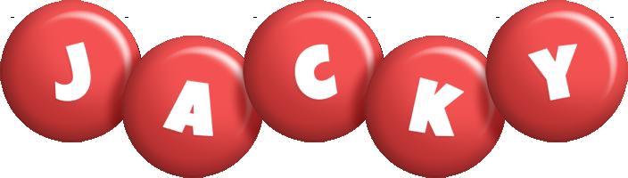 Jacky candy-red logo