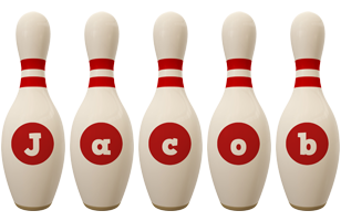 Jacob bowling-pin logo
