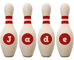Jade bowling-pin logo