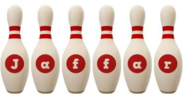 Jaffar bowling-pin logo