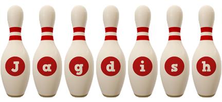 Jagdish bowling-pin logo
