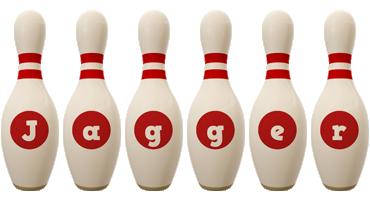 Jagger bowling-pin logo