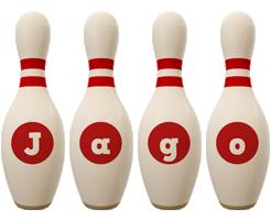 Jago bowling-pin logo