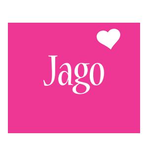 Jago love-heart logo