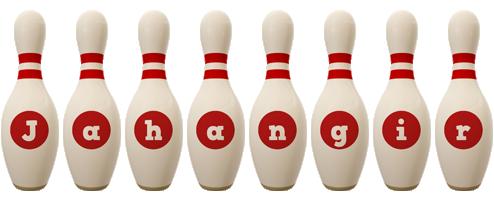 Jahangir bowling-pin logo
