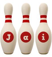Jai bowling-pin logo