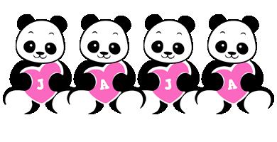 Jaja love-panda logo