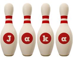 Jaka bowling-pin logo