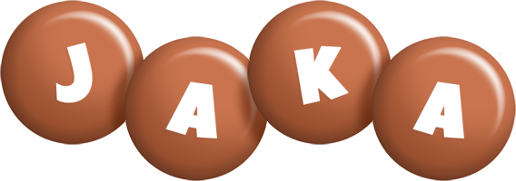 Jaka candy-brown logo