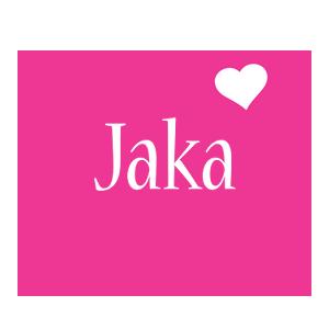 Jaka love-heart logo