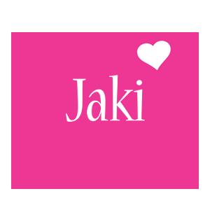 Jaki love-heart logo